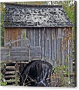 Pioneer Water Mill Acrylic Print by DigiArt Diaries by Vicky B Fuller