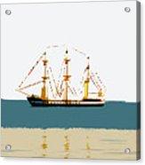 Pirate Ship On The Horizon Acrylic Print by David Lee Thompson