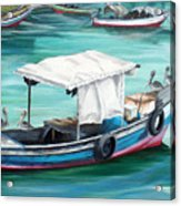 Pirogue Fishing Boat  Acrylic Print by Karin  Dawn Kelshall- Best