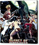 Planet Of Dinosaurs, 1-sheet Poster Acrylic Print by Everett