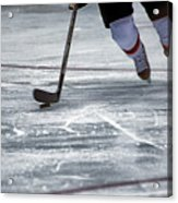 Player And Puck Acrylic Print by Karol Livote