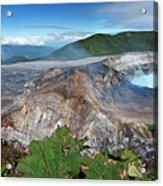 Poas Volcano Acrylic Print by Kryssia Campos
