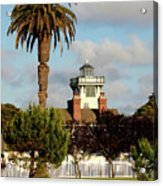 Point Fermin Light - San Pedro - Southern California Acrylic Print by Christine Till