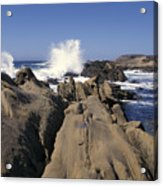 Point Lobos Seascape 3 Acrylic Print by Stan and Anne Foster