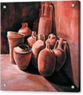 Pompeii - Jars Acrylic Print by Keith Gantos