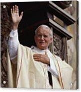 Pope John Paul II Celebrates Mass Acrylic Print by James L. Stanfield