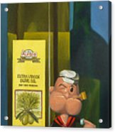 Popeye And Olive Oil Acrylic Print by Judy Sherman