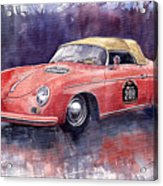 Porsche 356 Speedster Mille Miglia Acrylic Print by Yuriy  Shevchuk