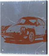 Porsche 911 Acrylic Print by Naxart Studio