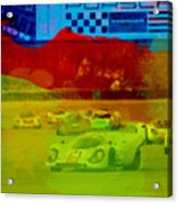 Porsche 917 Racing Acrylic Print by Naxart Studio