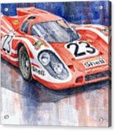 Porsche 917k Winning Le Mans 1970 Acrylic Print by Yuriy  Shevchuk