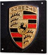 Porsche Emblem -211c Acrylic Print by Jill Reger