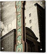 Portland Marquis Acrylic Print by Danielle Denham