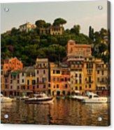 Portofino Bay Acrylic Print by Neil Buchan-Grant