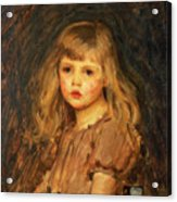 Portrait Of A Girl Acrylic Print by John William Waterhouse