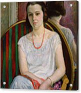 Portrait Of A Woman Acrylic Print by Henri Lebasque