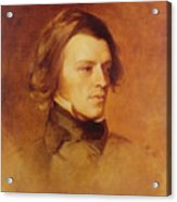 Portrait Of Alfred Lord Tennyson Acrylic Print by Samuel Laurence