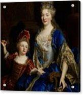 Portrait Of Catherine Coustard Acrylic Print by Nicolas de Largilliere
