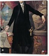 Portrait Of George Washington Acrylic Print by Joes Perovani