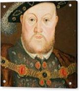 Portrait Of Henry Viii Acrylic Print by English School