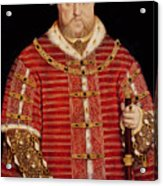 Portrait Of Henry Viii Acrylic Print by Hans Holbein the Younger