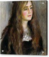 Portrait Of Julie Manet  Acrylic Print by Pierre Auguste Renoir