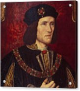 Portrait Of King Richard IIi Acrylic Print by English School
