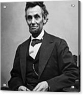 Portrait Of President Abraham Lincoln Acrylic Print by International  Images