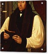 Portrait Of Thomas Cranmer Acrylic Print by Gerlach Flicke