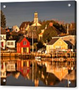 Portsmouth Reflections Acrylic Print by Susan Cole Kelly