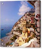 Positano View Acrylic Print by Neil Buchan-Grant