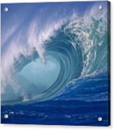 Powerful Surf Acrylic Print by Ron Dahlquist - Printscapes