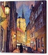 Prague Husova Street Acrylic Print by Yuriy  Shevchuk