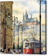 Prague Kaprova Street Acrylic Print by Yuriy  Shevchuk