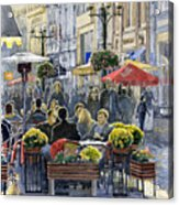 Prague Mustek First Heat Acrylic Print by Yuriy  Shevchuk