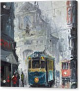 Prague Old Tram 04 Acrylic Print by Yuriy  Shevchuk