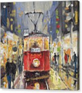 Prague Old Tram 08 Acrylic Print by Yuriy  Shevchuk