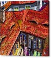 Prague Roofs 01 Acrylic Print by Yuriy  Shevchuk