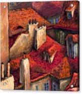 Prague Roofs Acrylic Print by Yuriy  Shevchuk