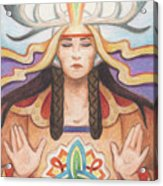 Pray For Unity Dream Of Peace Acrylic Print by Amy S Turner