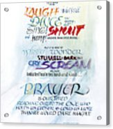 Prayer Acrylic Print by Judy Dodds