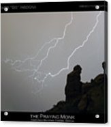 Praying Monk Lightning Striking Poster Print Acrylic Print by James BO  Insogna