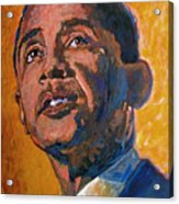 President Barack Obama Acrylic Print by David Lloyd Glover