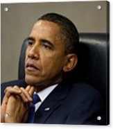 President Barack Obama Reflects Acrylic Print by Everett
