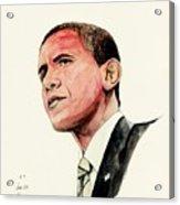 President Barak Obama Acrylic Print by Morgan Fitzsimons