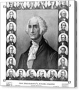 Presidents Of The United States 1789-1889 Acrylic Print by War Is Hell Store