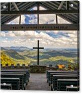 Pretty Place Chapel - Blue Ridge Mountains Sc Acrylic Print by Dave Allen