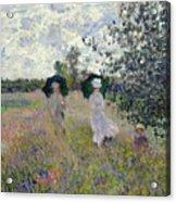 Promenade Near Argenteuil Acrylic Print by Claude Monet