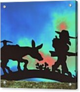 Prospector's Silhouette Acrylic Print by Richard Henne