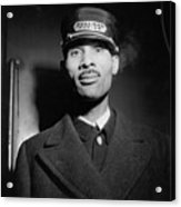 Pullman Porter At The Union Station Acrylic Print by Everett